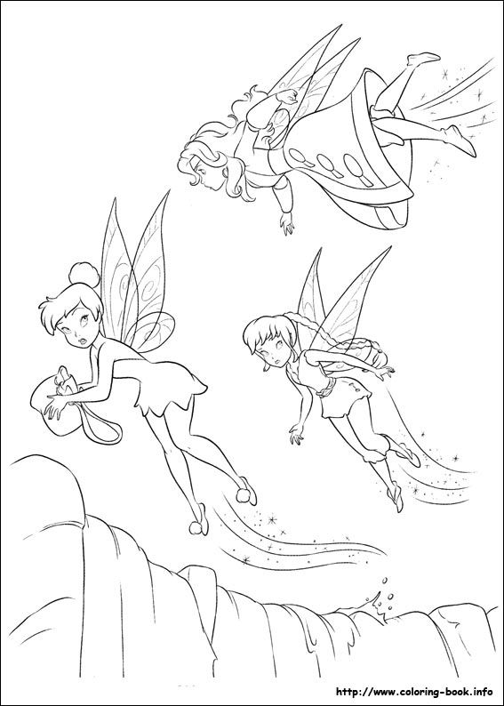 The Pirate Fairy Coloring Picture