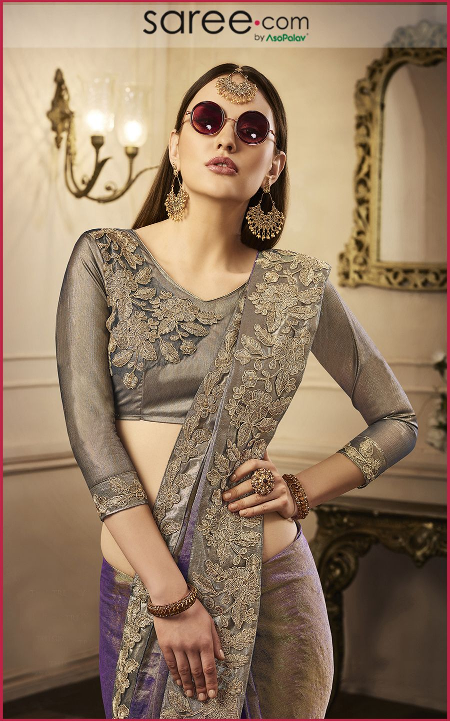 Silk saree blouse designs without embroidery golden shimmer blouse  designer blouses ideas   pinterest