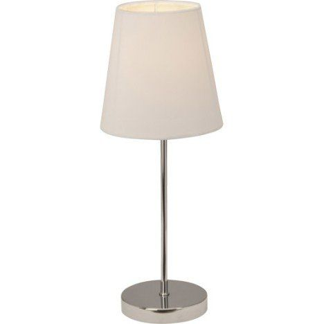 Lampe Tactile E14 Kasha Brilliant Tissu Blanc 40 W Table Lamp