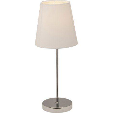 Lampe Tactile E14 Kasha Brilliant Tissu Blanc 40 W Lamp Table Lamp Brilliant