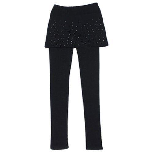 Allegra K Small Stud Decor Black Elastic Waist Skinny Leggings for Women Allegra K. $11.41