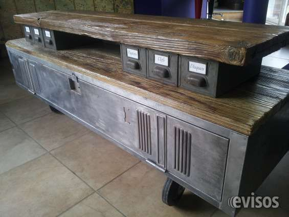 awesome muebles estilo industrial fierro madera andres gasman with muebles estilo industrial - Muebles Estilo Industrial