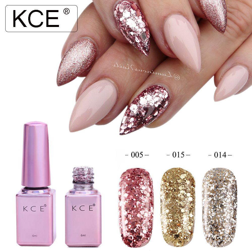KCE Professionelle Diamant Glitter UV Nagelgelpoliermittel 6 ml ...