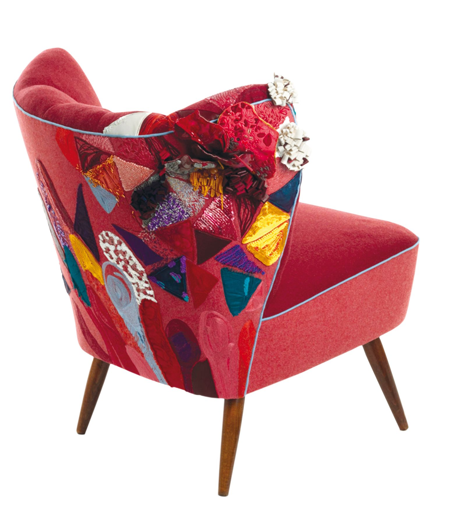 fauteuil vintage l atelier du renard broderie en ameublement magali renard like it pinterest. Black Bedroom Furniture Sets. Home Design Ideas
