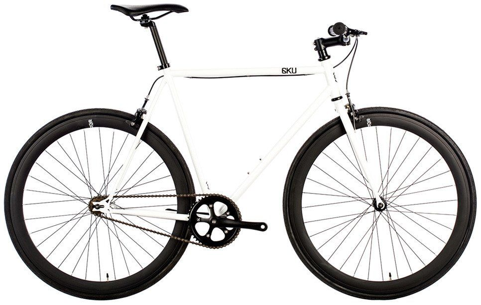 6KU Fixie SingleSpeed Bike Evian2 White | Fixie