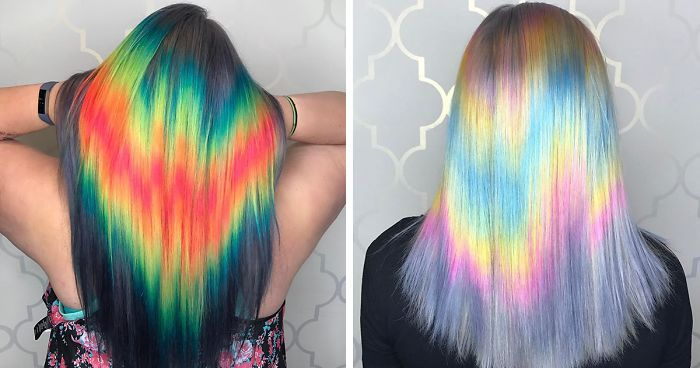 Shine Line Hair Is The Newest Trend Going Viral On Instagram Holographic Hair Hair Dye Colors Wild Hair Color