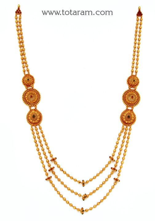 Check out the deal on 22K Gold 3 Lines Long Necklace Temple