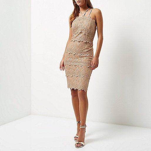 Nude cornelli dress - bodycon dresses - dresses - women