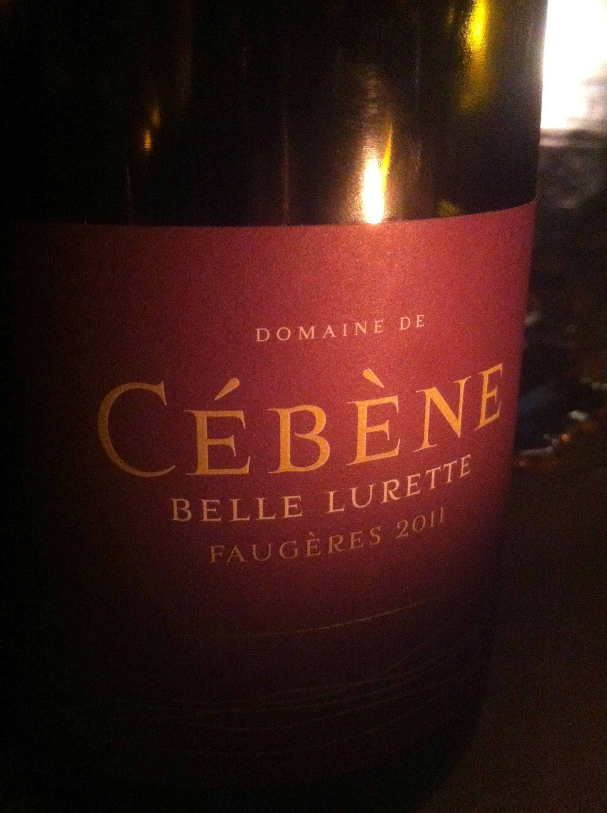 Domaine De Cebene 2011 Faugeres Belle Lurette Wine Label Wine Bottle Bottle