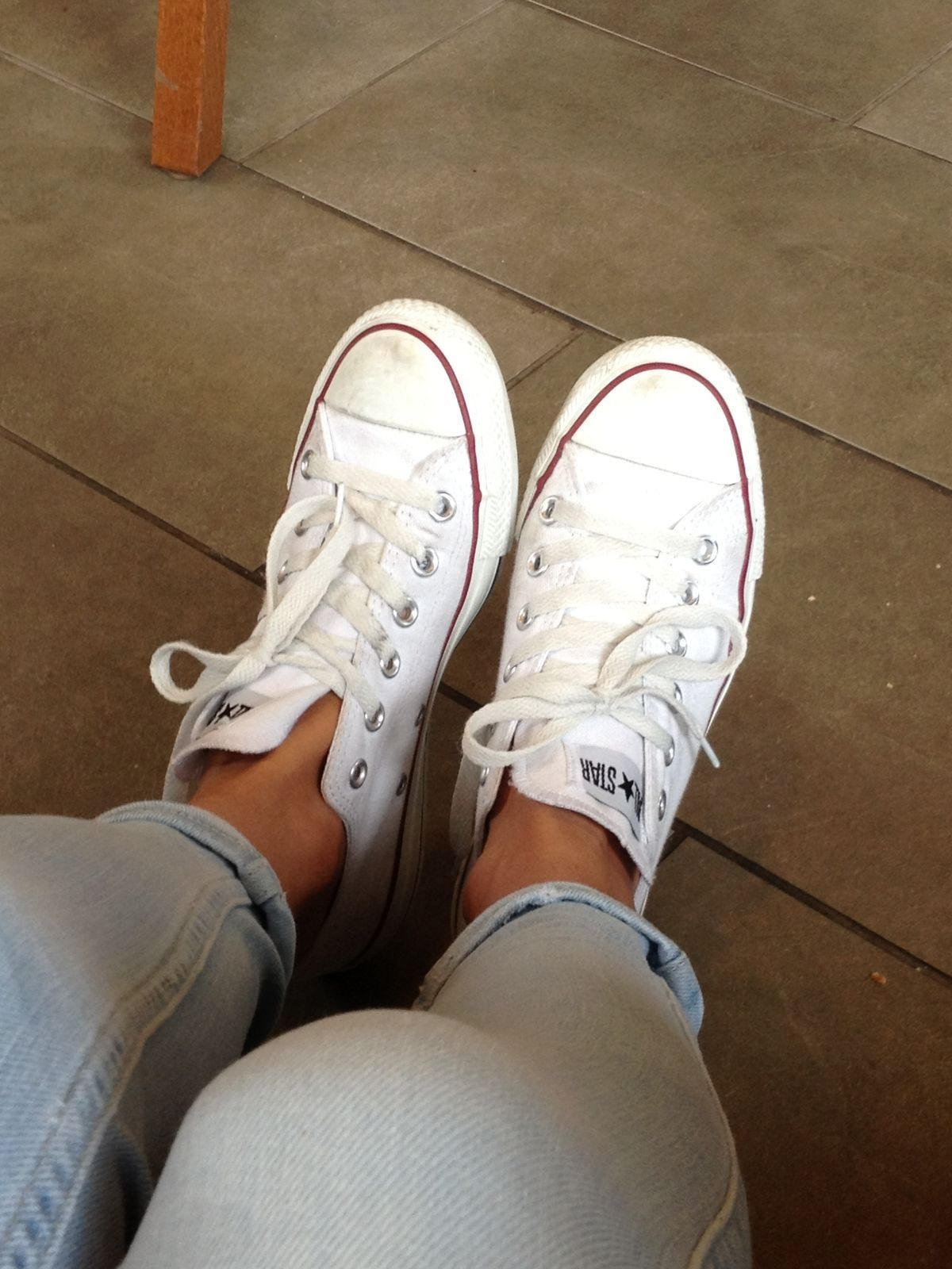 a8e3c0f7528 Witte All stars, converse, jeans, dames sneakers, | All Stars ...