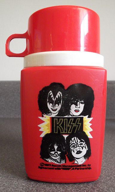 1977 Aucoin Kiss Lunch Box Thermos Kiss Merchandise Vintage