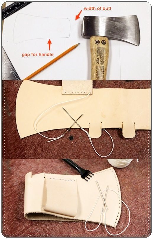 How To Make A Leather Sheath For A Hatchet Homesteading The Homestead Survival Com Please Shar Leather Working Patterns Sewing Leather Leather Working