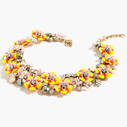 Sequin Floral Statement Bracelet