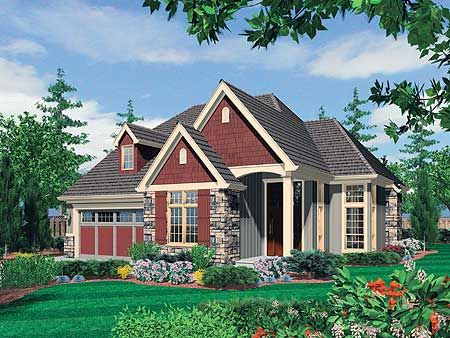 Plan 6952am Two Story Home Plan With Open Living Area Cottage House Plans House Plans Cottage Style Homes