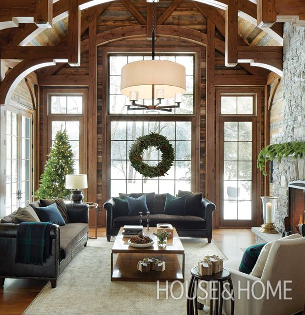 Find Your Holiday Style: 21 Natural Christmas Decorating Ideas | Pine Tree,  Mantle And Beams