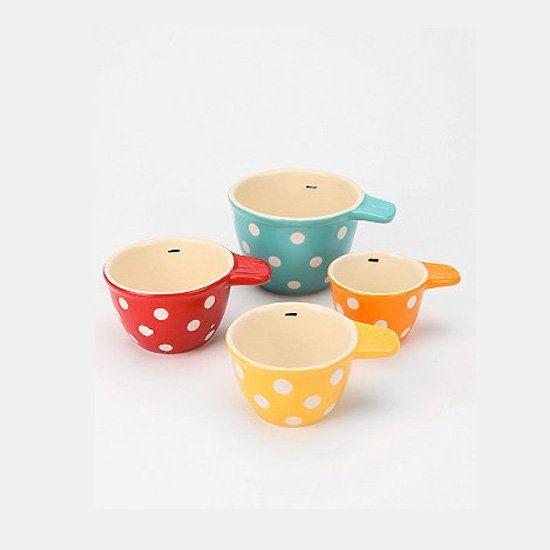 Set of 4 Dexam Polka Dot Heart-Shaped Ramekins Multi-Colour