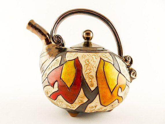 Pottery teapot 20oz, ceramic teapots, ceramics and pottery, pottery tea pots…