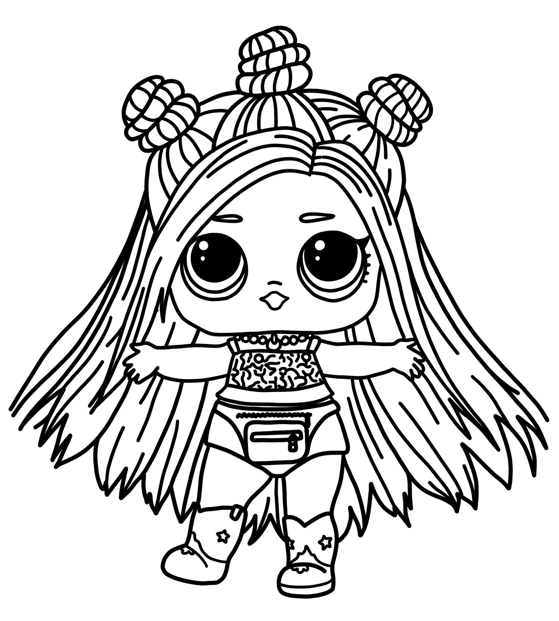 Lol Doll Hair Goals Coloring Pages Trend