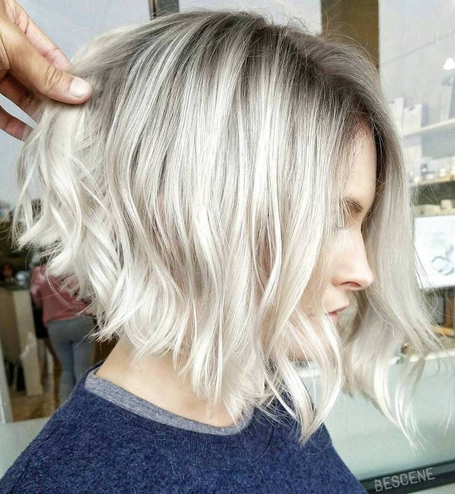 best short bob haircuts and hairstyles for women wavy angled