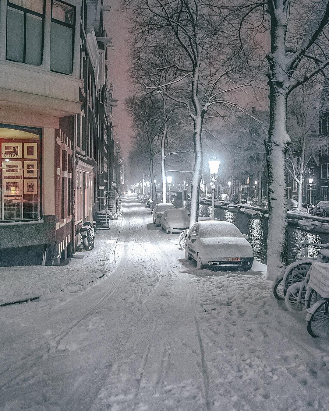"Amsterdam – Instagram – Dutch on Instagram: ""The white street ☃️❄️⛄…"