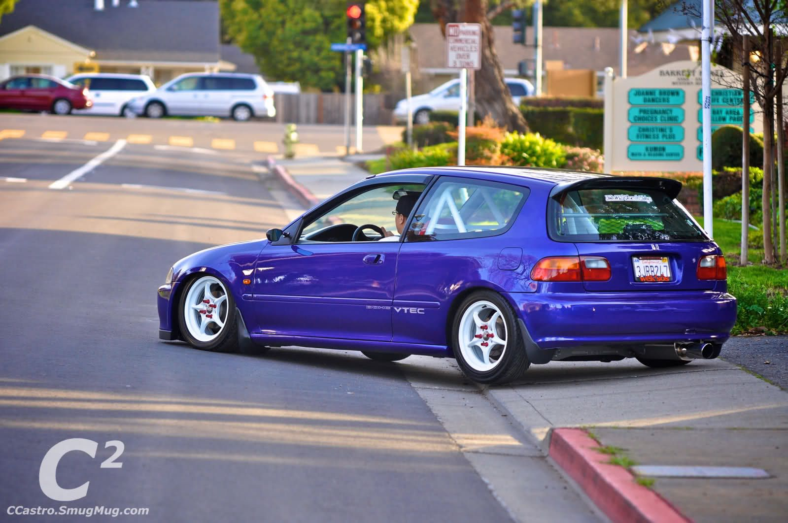 Purple Honda Civic Hatchback Modified Honda Ef Hatch Slammed