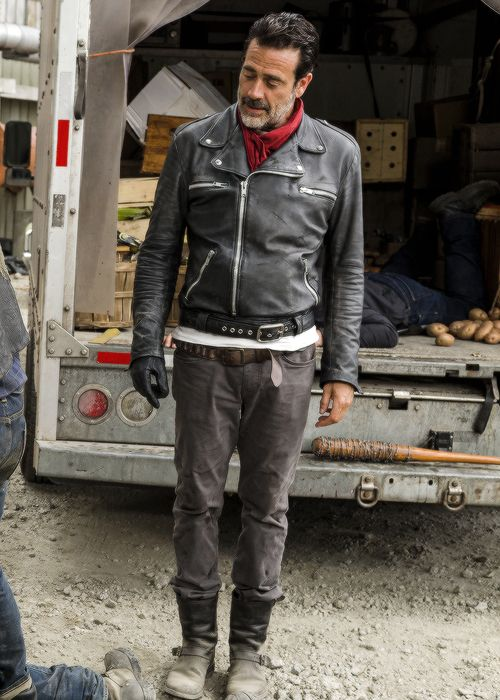 The Walking Dead Negan Jeffrey Dean Morgan Black Jacket Cosplay Negan Costumes