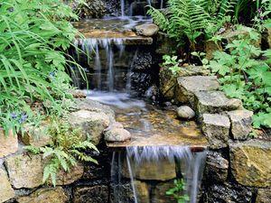 Bachlauf mit Staustufen | Wassergarten | Pinterest | Bachlauf ...