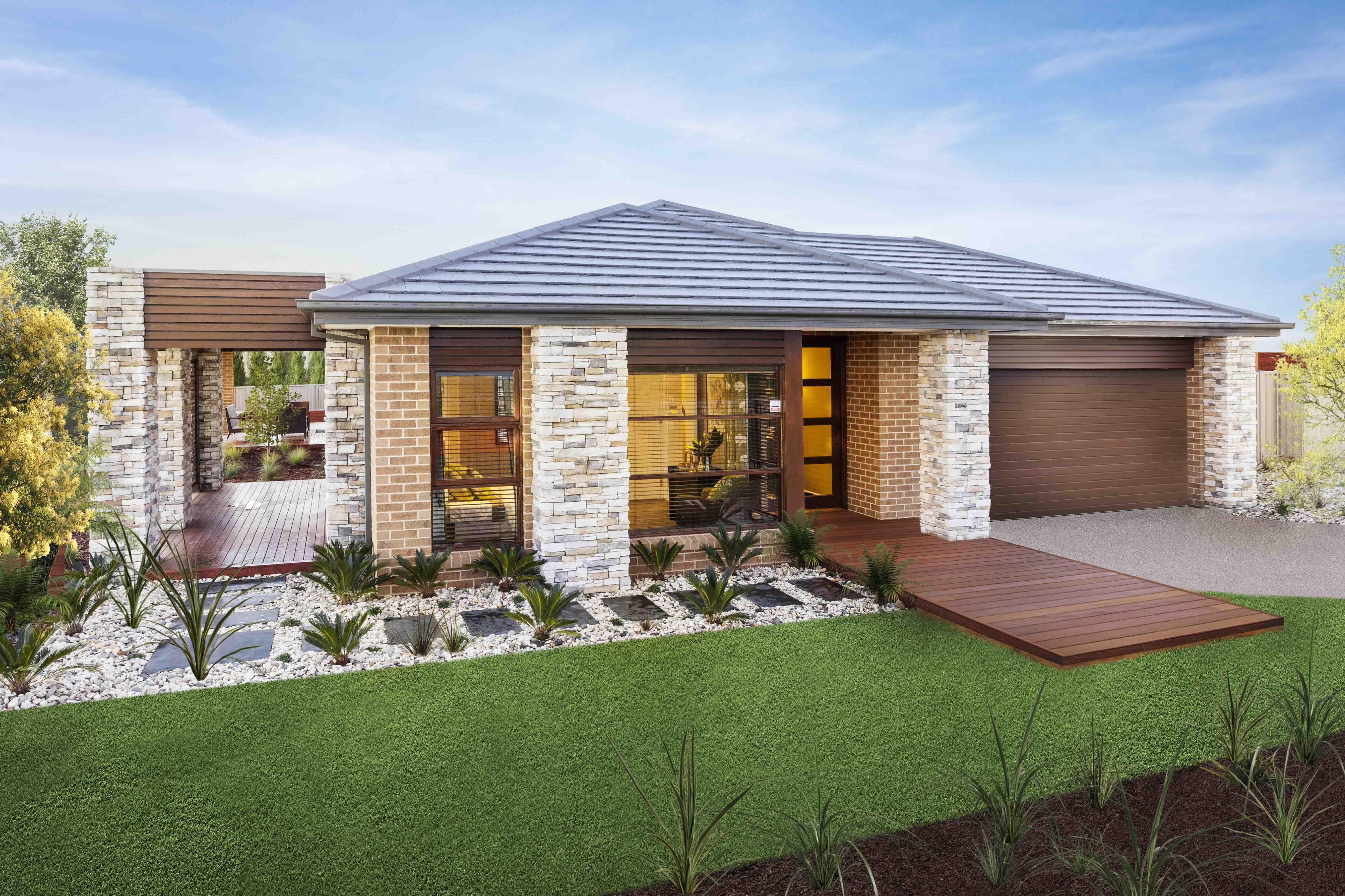 Facades for Homes Single Story House Designs
