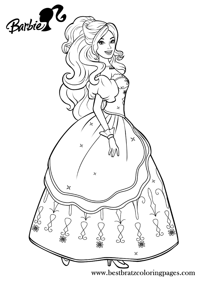 Coloring Pages For Barbie Princess