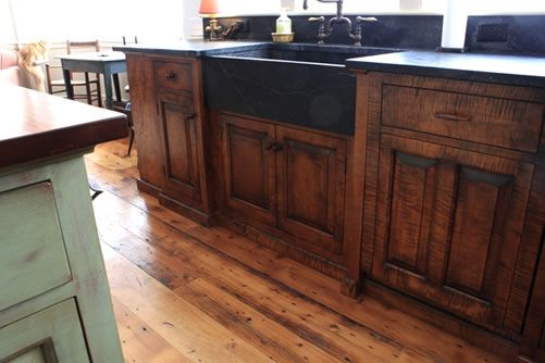 Tiger Maple Cabinets Kitchen New