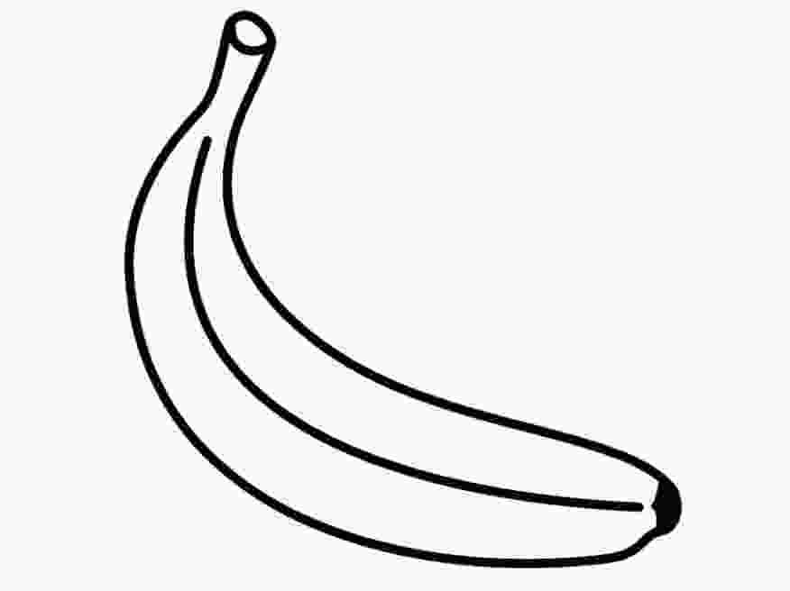 Banana Template Bunch Of Bananas Coloring Sheet Coloring Pages