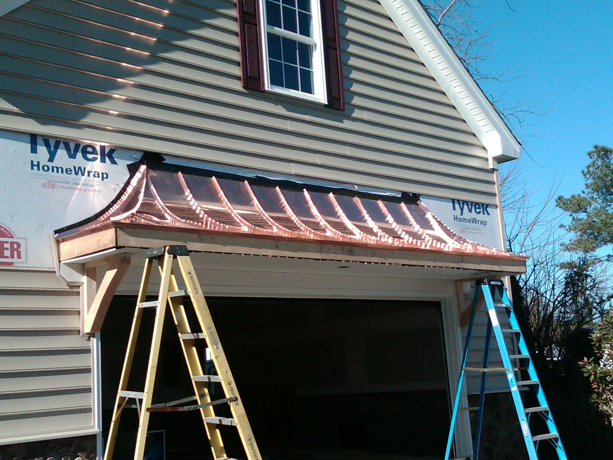 Copper Accent Roof Over Garage In 2019 Character Home