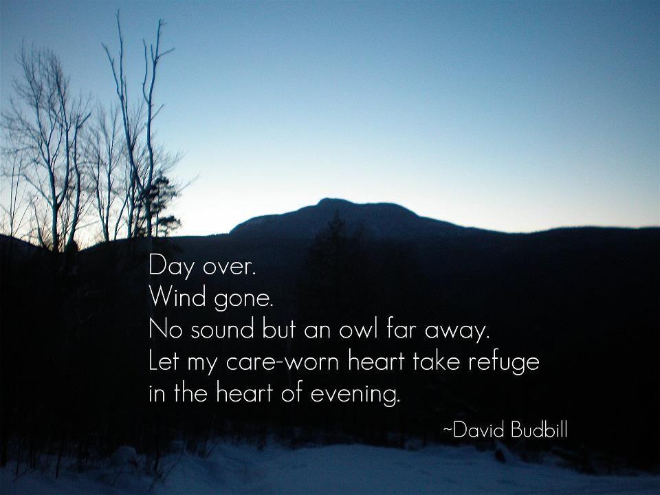 David budbill poem essays
