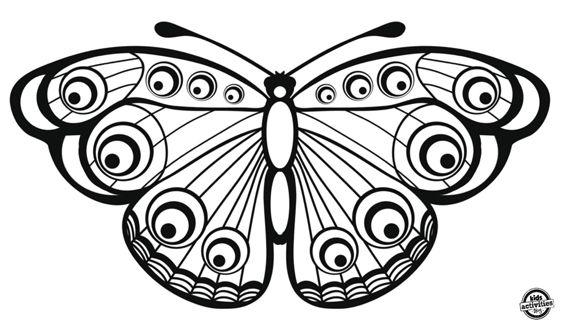 Dibujo Mariposa Para Imprimir Y Colorear Kids Kraft Butterfly