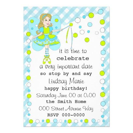Polka dot fairy personalized invitation fairy party pinterest polka dot fairy personalized invitation stopboris Images
