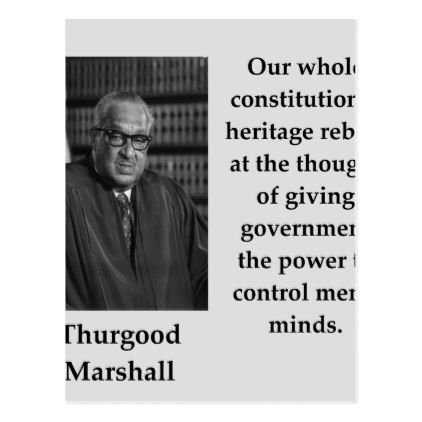 Thurgood Marshall Quotes Inspiration Thurgood Marshall Quote Postcard Inspiration Design