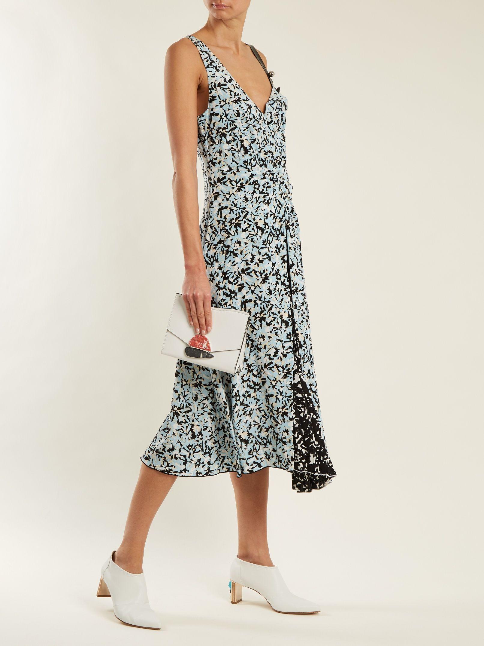 Silk and Cotton Checked Dress Spring/summer Proenza Schouler oz0Hdko