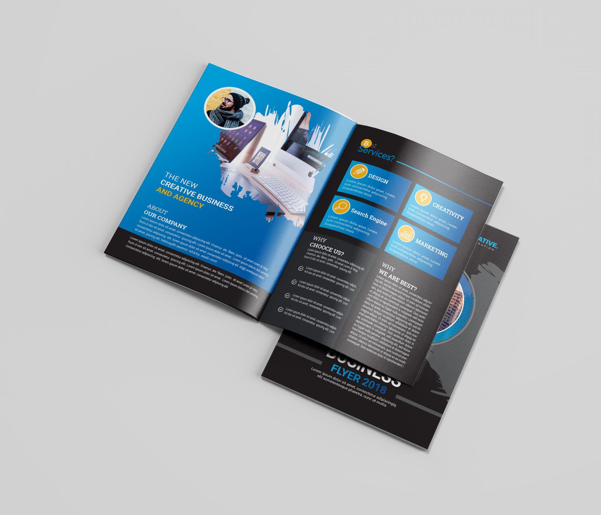 Blue Bi Fold Brochure Design Brochure Design Bi Fold Brochure