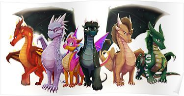 wings of fire jade winglet poster by
