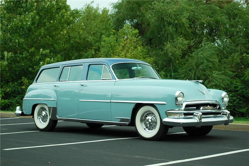 1954 Chrysler Town Country Wagon Barrett Jackson Auction Company Chrysler New Yorker Chrysler Cars Chrysler Town And Country