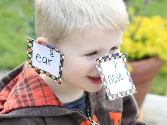 """""""Stick It!"""" Labeling Game. I can see it as a good game in a bilingual classroom for vocabulary practice."""