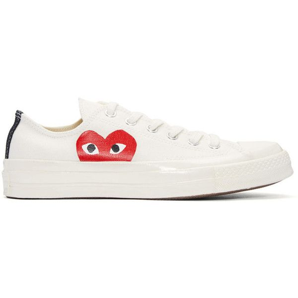 91733ba79ade Comme des Garçons Play Ivory Half Heart Converse Edition Sneakers ( 145) ❤  liked on
