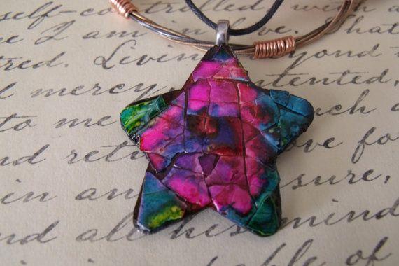 my eggshell mosaic star necklace.  Visit my Etsy shop ThingsUpcycled