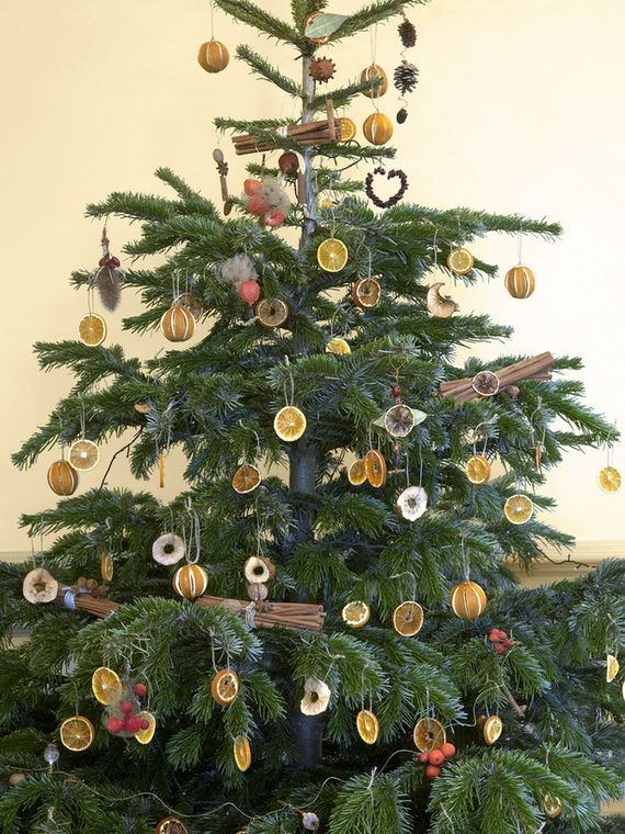 Natural Christmas Tree Decorations Woodland