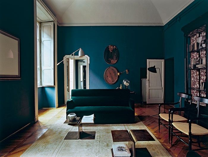 salon bleu p trole bleu canard et bleu paon. Black Bedroom Furniture Sets. Home Design Ideas