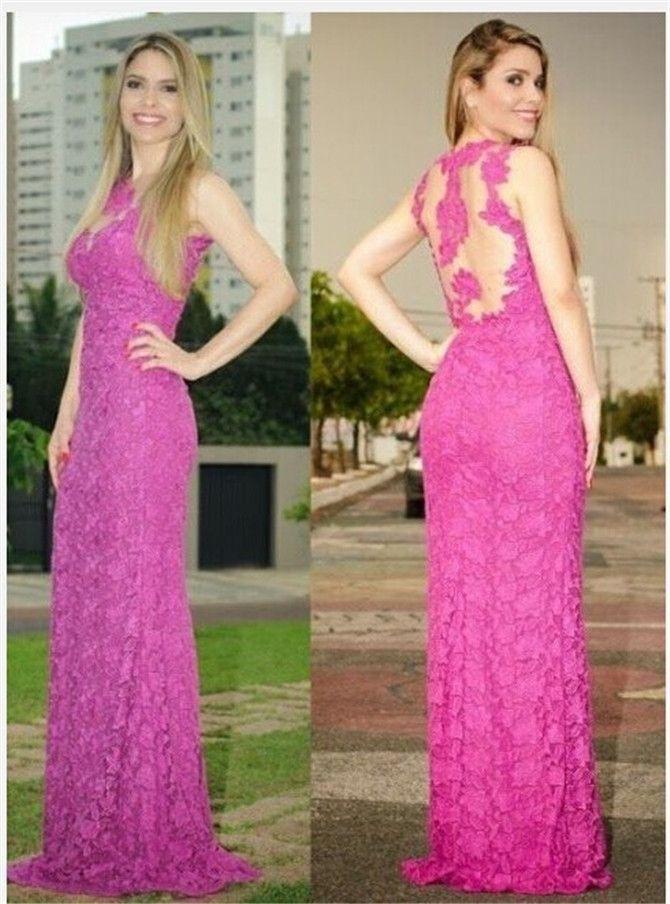Backless Prom Dress,Lace Prom Dress,Mermaid Prom Dress,Fashion Prom ...