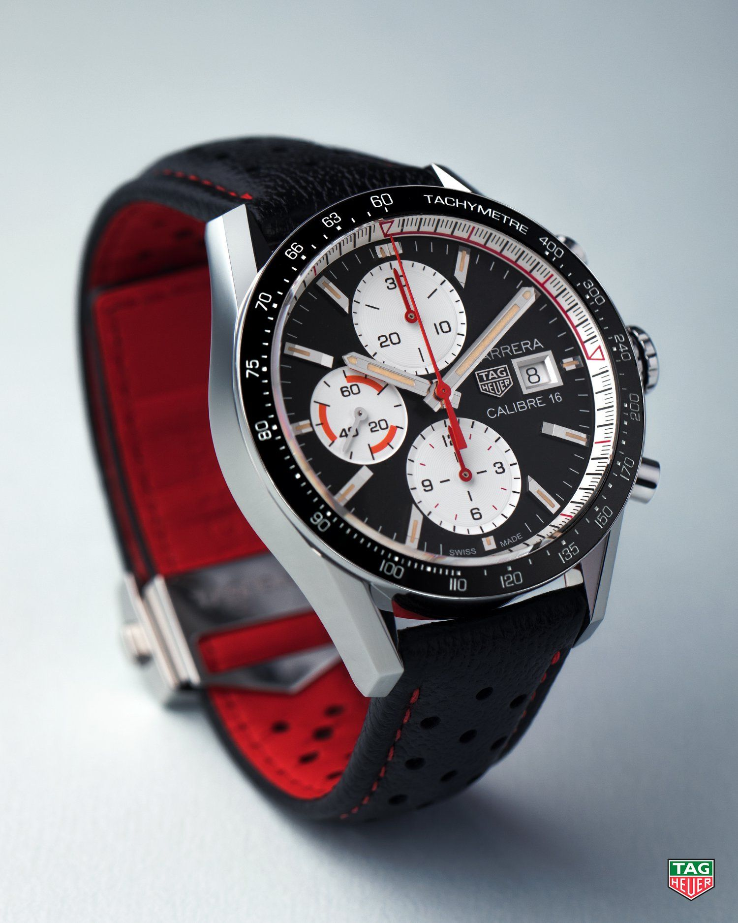 2ed8cbccfb01 Your look just got a lot more polished. The TAG Heuer Carrera Calibre 16.   DontCrackUnderPressure  TAGHeuerCarrera  Calibre16  Leather  Chronograph
