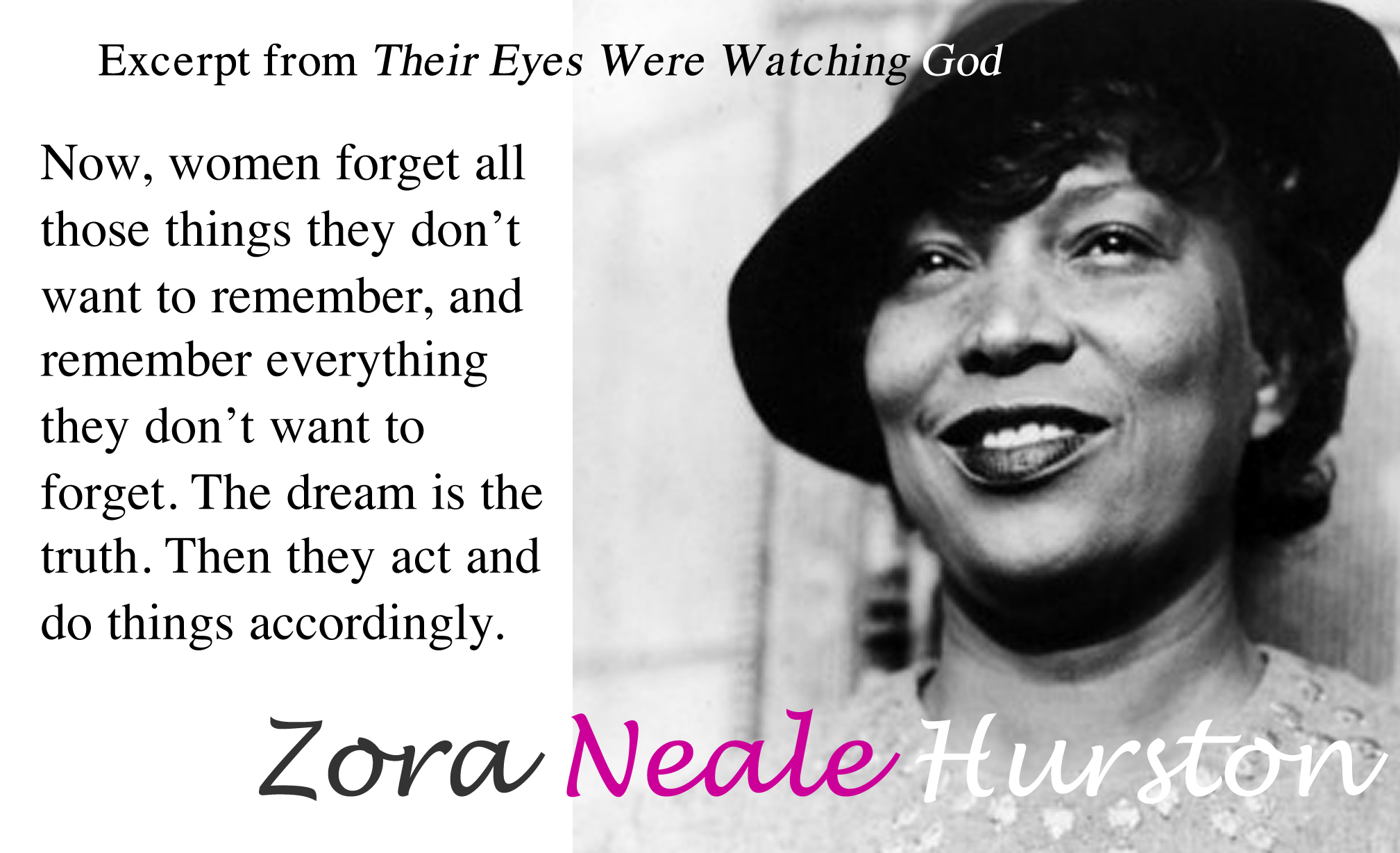 Excerpt From Their Eyes Were Watching God By Zora Neale Hurston