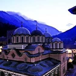 Bulgarias ancient Rilski Monastery accepts overnight guests. At dawn, you wake up to innumerable shades of blue.