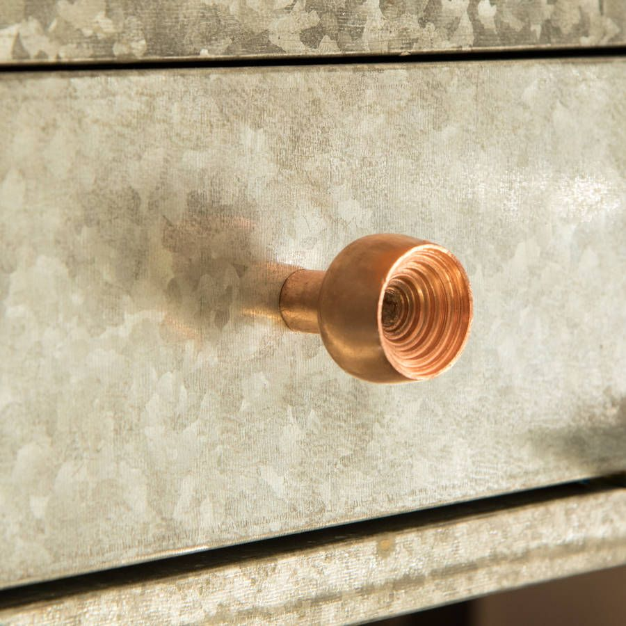 Round Metal Cut Out Knob